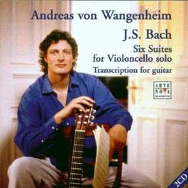 J.S. Bach  Cello Suites - Arranged For Guitar 1970 Andreas Von Wangenheim