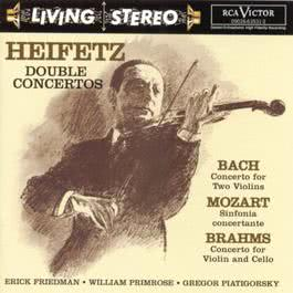 Bach Concerto For Two Violins Mozart  Sinfonia Concertante Brahms Double Concerto 2000 Jascha Heifetz