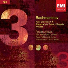 Rachmaninov: Piano Concertos 1-4; Rhapsody on a Theme of Paganini & Preludes 2007 Agustin Anievas