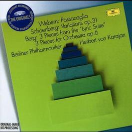 """Webern: Passacaglia / Schoenberg: Variations Op.6 / Berg: 3 Pieces from the """"Lyric Suite""""; 3 Pieces for Orchestra Op.6 1999 Herbert Von Karajan; Berliner Philharmoniker"""