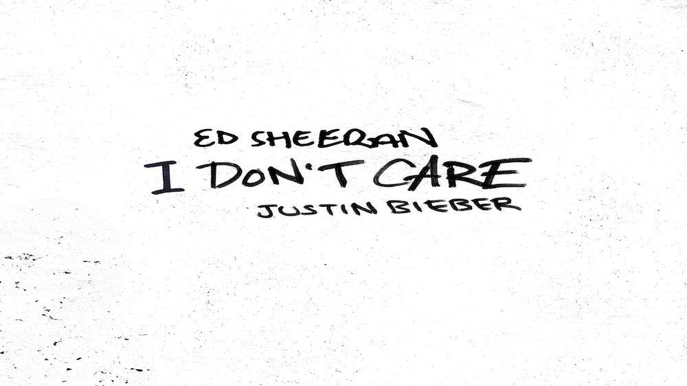 Ed Sheeran feat. Justin Bieber - I Don't Care (Lyric video)