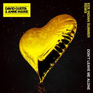 Don't Leave Me Alone (feat. Anne-Marie) [EDX's Indian Summer Remix] 2018 David Guetta; Anne-Marie