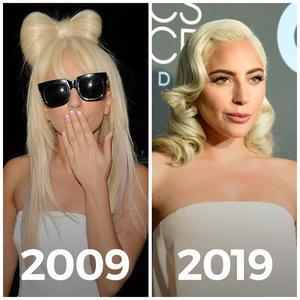 Lady Gaga #10yearchallenge